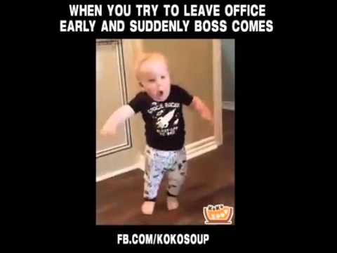 hqdefault when you try to leave office early and suddenly boss comes youtube