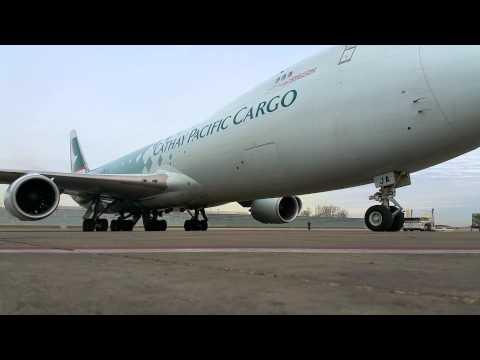 "Cathay Pacific Cargo - ""Hong Kong Trader"" [B-LJA] O'Hare Int'l Cargo Gate Arrival [03.19.2015]"