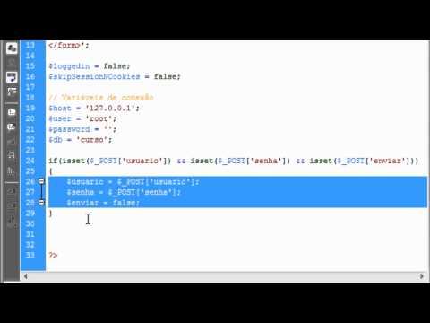 Sistema de login básico com PHP e MySQL