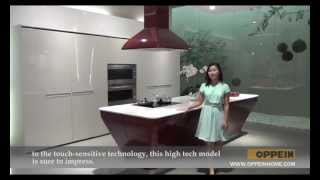 Kitchen Furniture - Modern Kitchen Cabinet - Red - Lacquer Kitchen Cabinet