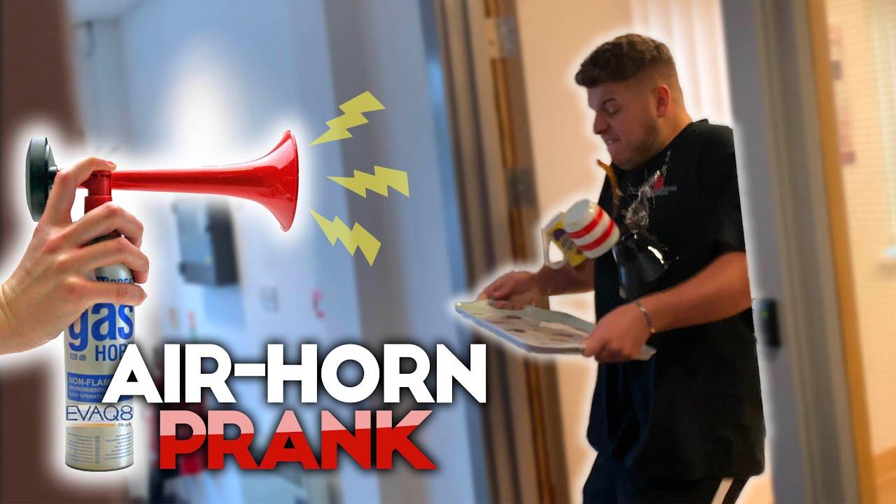 Air Horn Prank Backfires