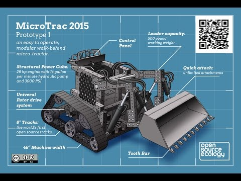 MicroTractor By Open Source Ecology