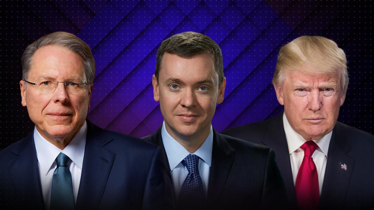 Wayne LaPierre, Chris W. Cox & President Donald Trump ...