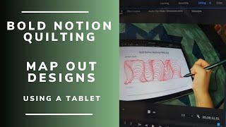 Using a tablet to practice design concepts