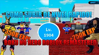 THE BEST WAY TO LEVEL AND MONEY UP IN BOKU NO ROBLOX:REMASTERED (ENGLISH)