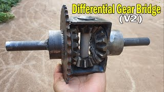 Build A Differential Gear - V2 Project For Gokar ATV Buggy...
