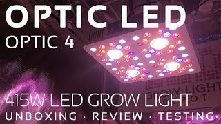 Optic 4 LED Grow Light Review, Unboxing, and PAR Testing