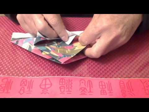 how to make an origami garbage bin