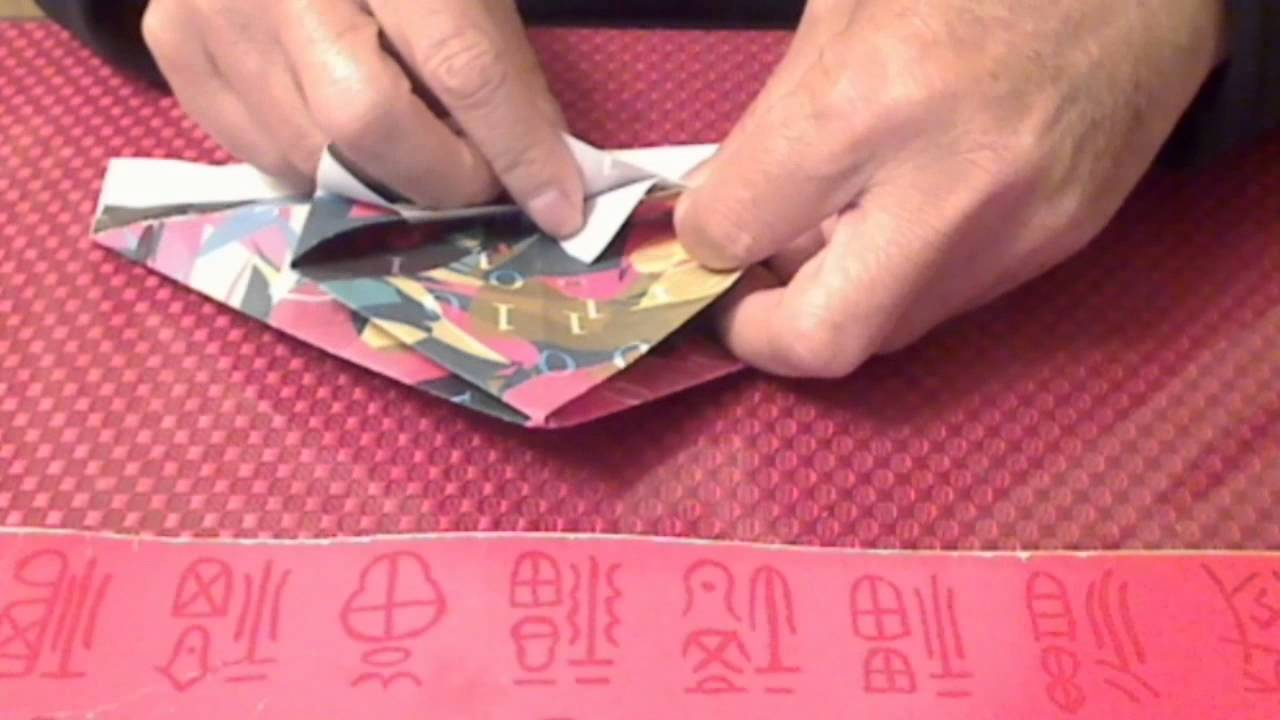 Origami: Folding paper trash box - Quick and simple. - YouTube