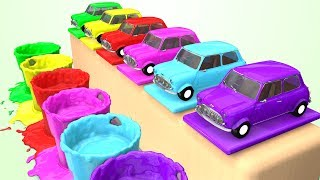 Learn Colors for Kids w Fun Cars and Soccer Balls - Learning for Todlers Children Superheroes Video