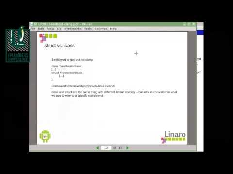Getting Android userland to build with clang - Bernhard Rosenkraenzer, Linaro
