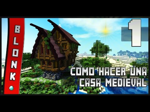 Como construir una casa medieval estilo 3 minecraft for Como hacer una casa clasica de ladrillo en minecraft