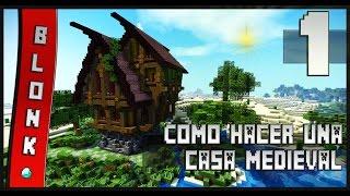 minecraft casa medieval alegre hacer una como