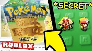 I Found Secret Version of Pokemon Brick Bronze in Roblox!