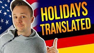 US/English Holidays Translated Into GERMAN 🇺🇸🇩🇪 Get Germanized