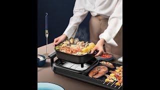 고급 가정용 전기 냄비 그릴 바베큐 꼬치 고기 불판