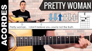 pretty woman como tocar con guitarra acordes chords guitar lesson
