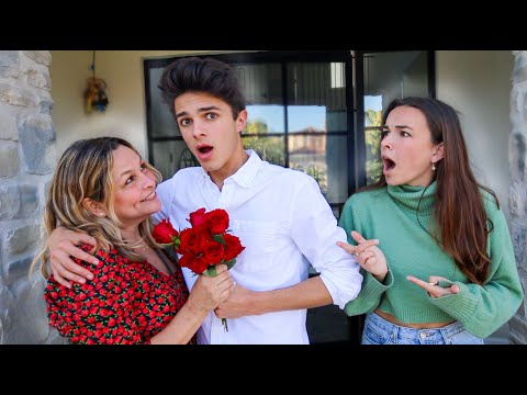 FLIRTING WITH HER MOM TO SEE HOW MY CRUSH REACTS... (awkward)