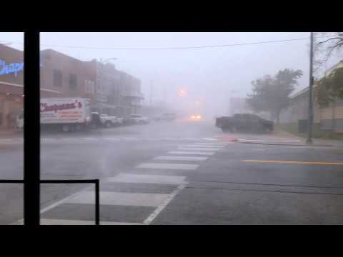 Crazy Storm Strong Wind Rain & Hail Downtown Buffalo Missouri