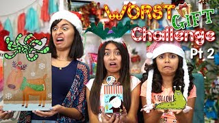 Worst Gift Challenge - Part 2 : Opening Christmas Presents // GEM Sisters