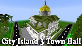 minecraft hall town island
