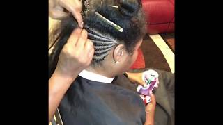 lemonade braids, corn rows, individual braids, faux hawk