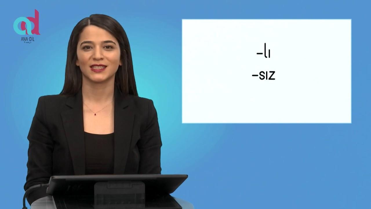 """-lı / -sız """"اللاحقتان """"ب"""" و """"بدون"""