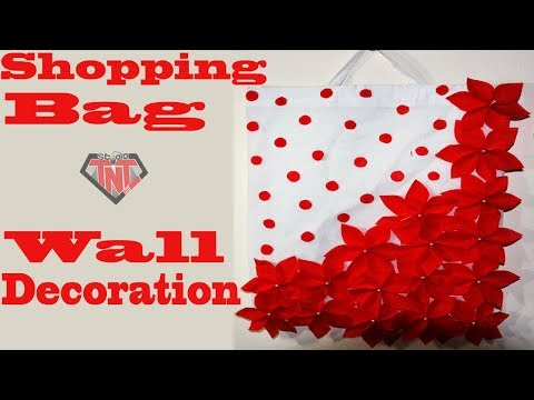 How To Make Wallmate Using Shopping Bag || DIY Tote Bag Room Decor Ideas