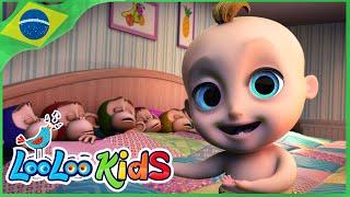 Dez na cama | Rimas para crianças | LooLoo Kids Português