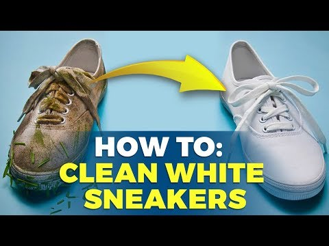 How To Clean White Sneakers | At Home Solutions | Alex Costa