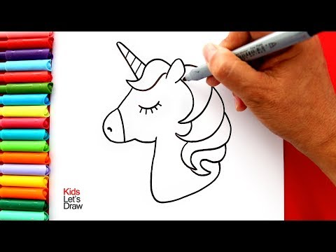 Cómo dibujar y pintar un UNICORNIO Kawaii (Muy Fácil) | How to Draw a Cute Unicorn Easy