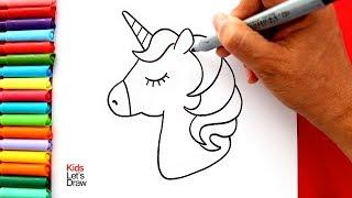 Cómo dibujar y pintar un UNICORNIO Kawaii (Muy Fácil) | How to Draw a Cute Unicorn Easy
