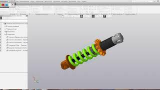Видеоуроки Компас 3D V17 Анимация амортизатора
