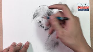 HOW TO DRAW Mark Wahlberg FROM DEEPWATER HOZIRON MOVIE