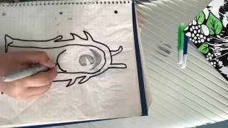 How to draw a slug from slugterra