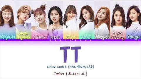 TT Color Coded (HAN/ROM/ESP) - TWICE (트와이스)