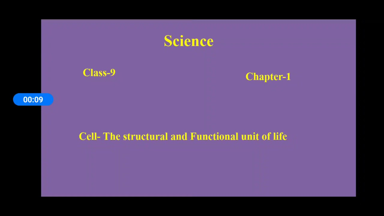 Class-9 Science (Cell structure and Function) - YouTube