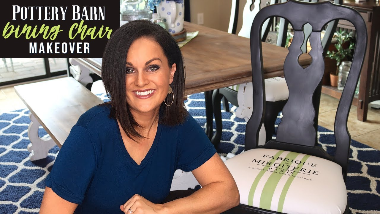 ⭐TRASH TO TREASURE MAKEOVER- Pottery Barn Dining Chairs FURNITURE FLIP