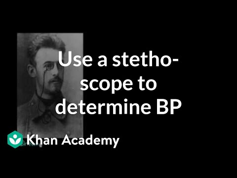 Learn how a stethoscope can help determine blood pressure
