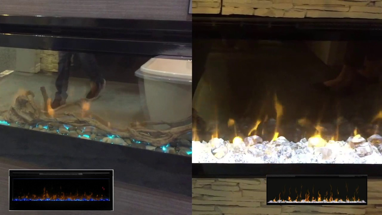 prism vs ignite xl dimplex electric fireplace review youtube