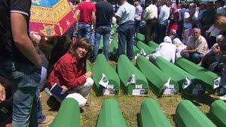 Victims are remembered in Srebrenica