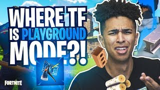 *NEW* PLAYGROUND MODE GONE ALREADY? Playing With BOTS! Fortnite Battle Royale