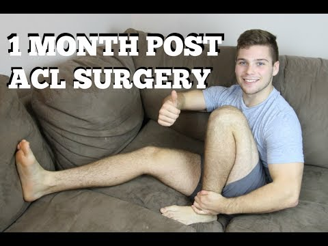 1 Month ACL Surgery Update - Full Flexion & Extension