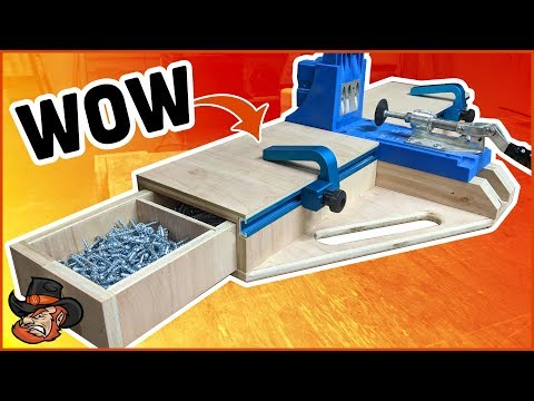 How to make a pocket hole jig station | Plans