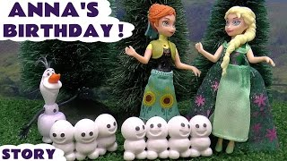 Frozen Fever Funny Happy Birthday Anna Thomas and Friends Surprise Eggs Inside Out MLP Olaf & Sven