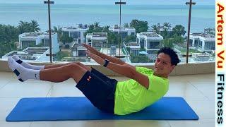 Плоский Живот за Короткий Срок Упражнения для Пресса дома 10 минут артем фитнес
