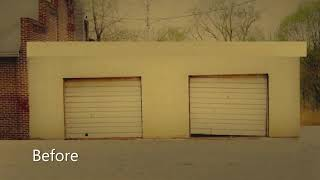 Before and After - Long Island City New Garage Door Installation