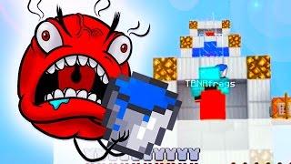 DEATH DROP AND PRESTON RAGE! Minecraft Water Bucket Death Drop Challenge!