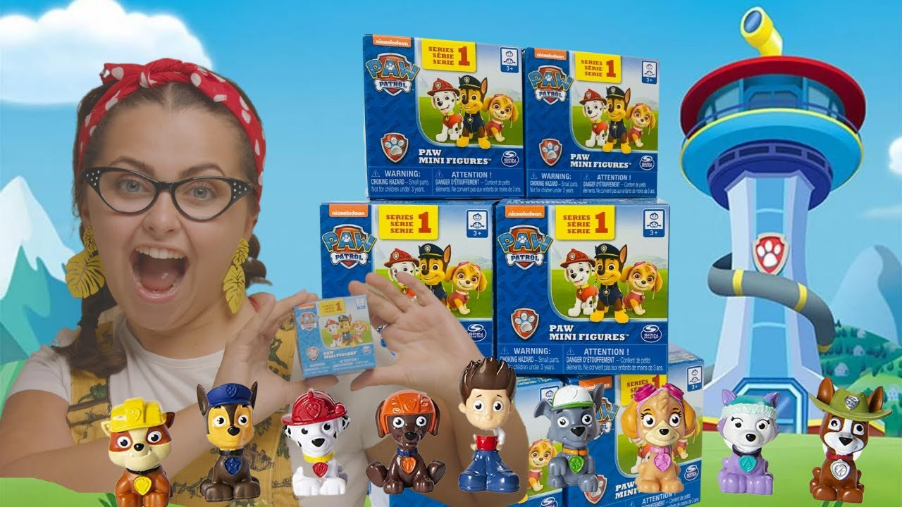 Download Paw Patrol Toys Spinmaster Toys Blind Box Series 1 Opening - Toy Unboxing (Part 1)