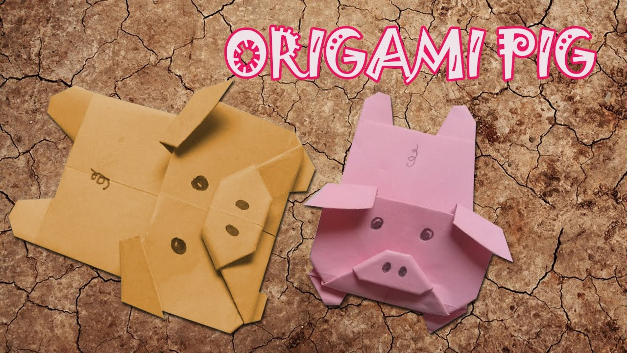 origami pig origami easy youtube